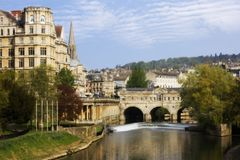 View of the Pulteney Bridge Royalty Free Stock Photography