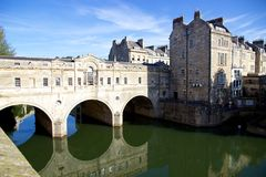 View of Pulteney Bridge and the River Avon, Bath, England Stock Image