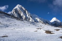 View of Pumori from Kala Patthar Royalty Free Stock Images