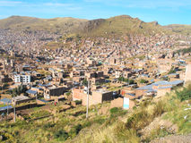 View of Puno city in Peru Royalty Free Stock Image