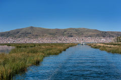 View of Puno by Titicaca lake, Peru royalty free stock photography