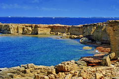 Punta de Sa Pedrera coast in Formentera, Balearic Islands, Spain Stock Images