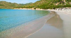 View of a Punta Molentis beach, Sardinia, Italy. Stock Photos
