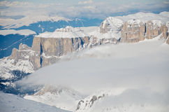 View from Punta Rocca, Marmolada. View to the north from Punta Rocca - Marmolada at Sass Pordoi, Dolomites, Italy Stock Photography