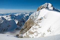 View from Punta Rocca, Marmolada. View to the southwest from Punta Rocca, Marmolada, Dolomites, Italy Royalty Free Stock Photos