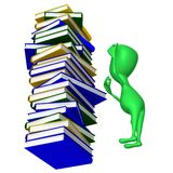 View puppy who looking on book column Royalty Free Stock Photo
