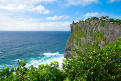 View of Pura Uluwatu temple Stock Images