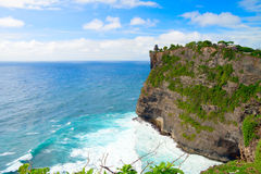 View of Pura Uluwatu temple Stock Image