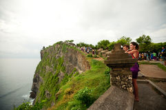 View at Pura Uluwatu temple Royalty Free Stock Photo