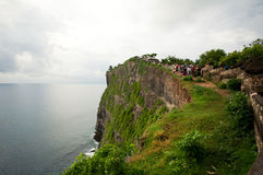 View at Pura Uluwatu temple Stock Photo