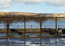 View of Purbeck hills Swanage Dorset Royalty Free Stock Photo