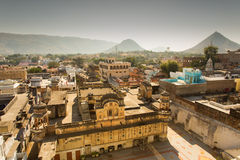 View of Pushkar City, India Stock Image