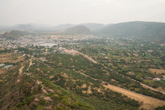 View on Pushkar city and surroundings Stock Image