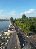 View of the Pushkin quay from Andreevsky bridge Royalty Free Stock Photography
