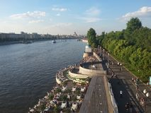View of the Pushkin quay from Andreevsky bridge Royalty Free Stock Images