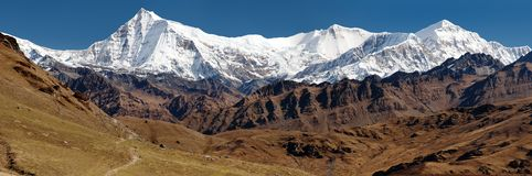 View of Putha Churen Himal and Dhaulagiri Himal Stock Images