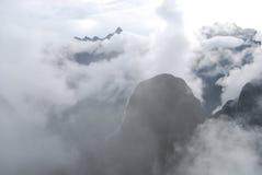 View Putucusi, hill near Machu Picchu Stock Photos