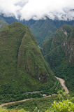 View at the Putucusi Mountain, Machu Picchu, Peru Royalty Free Stock Image