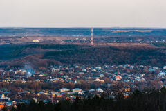 View of the Pyatigorsk city from the hilltop stock photography