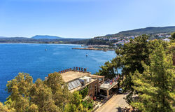 View on Pylos and Navarino bay, Peloponnese stock image