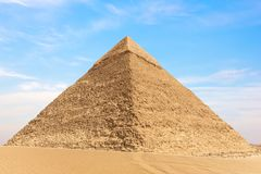 View on the Pyramid of Chephren in Giza, Egypt.  stock photography
