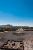 View from Pyramid of the Moon in Teotihuacan Royalty Free Stock Photography