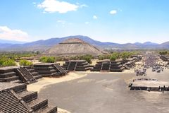 Pyramid of Sun, Teotihuacan, Mexico Royalty Free Stock Image