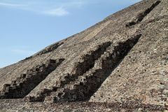 Mexico City. A view of the Pyramid of the Sun at the site of Teotihuacan on March 17, 2014 in Mexico City Stock Image