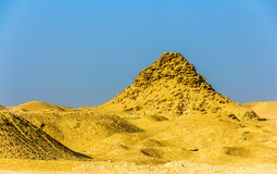 View of the Pyramid of Userkaf at Saqqara Stock Images