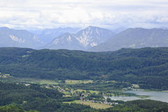 View from Pyramidenkogel tower, Austria Stock Photo