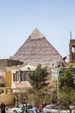 View of the pyramids in Cairo Stock Images