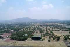 View from the pyramids at Teotihuacan Stock Image