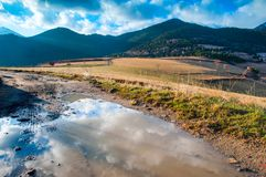 View of pyrenees fields Royalty Free Stock Photo