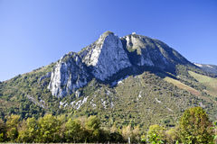 View of the Pyrenees Mountains. View of the High Pyrenees Mountains in France Stock Images