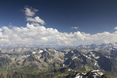 View of pyrenees from pic du midi Royalty Free Stock Images