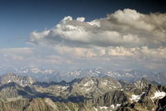 View of pyrenees from pic du midi Stock Image