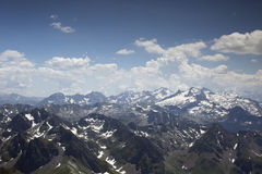 View of pyrenees from pic du midi Royalty Free Stock Photos