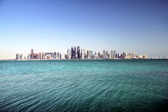 Modern city. A view of Qatar city Royalty Free Stock Image
