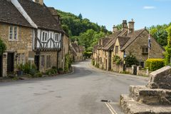 Village of Castle Combe in Wiltshire royalty free stock images