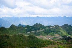 View from Quan Ba Sky gate, Ha Giang province, Vietnam Stock Photography