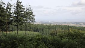 View from Quantock Hills Somerset England totowards Hinkley Point Royalty Free Stock Images
