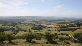 View from the Quantock Hills Somerset England Royalty Free Stock Photography