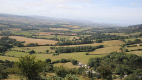 View from the Quantock Hills Somerset England Royalty Free Stock Images