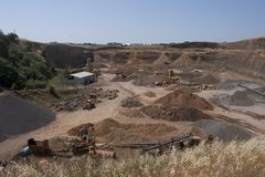 View on the quarry Royalty Free Stock Photography