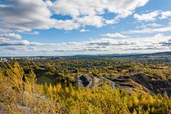 View of the iron ore mine Royalty Free Stock Image