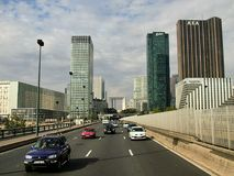 View of the quarter of La Defense in Paris royalty free stock photos