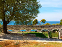 View of the quay Adriatic sea, Royalty Free Stock Photo