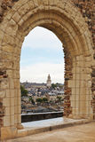 View of quay des Carmes from Angers Castle Royalty Free Stock Photos
