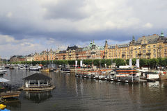 View on the quay of Ostermalm, Stockholm Royalty Free Stock Images