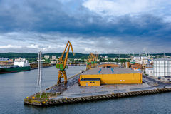 View of the quay port and shipyard Royalty Free Stock Photo